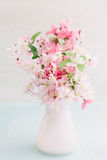 Cherry blossom bouquet. Bouquet of pink cherry blossoms in a vase royalty free stock image
