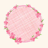 Cherry blossom branch flower background Royalty Free Stock Photo