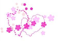 Cherry blossom branch,Vector illustration Royalty Free Stock Photos