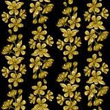 Cherry Blossom Embroidery Seamless Pattern Fotografie Stock Libere da Diritti
