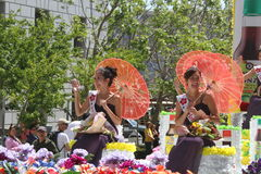 Cherry Blossom Festival - Grote Parade San Francisco Stock Afbeelding