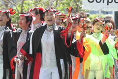 Cherry Blossom Festival - Grote Parade San Francisco Royalty-vrije Stock Afbeelding