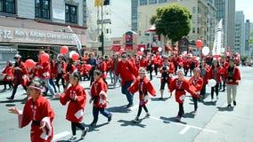 Cherry Blossom Festival 2015, San Francisco, USA, stock footage