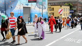 Cherry Blossom Festival 2015, San Francisco, USA,. SAN FRANSISCO - APR 19: Northern California Cherry Blossom Festival Grand Parade on April 19, 2015 in San stock video