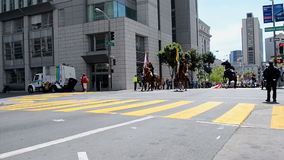 Cherry Blossom Festival 2015, San Francisco, USA,. SAN FRANSISCO - APR 19: Northern California Cherry Blossom Festival Grand Parade on April 19, 2015 in San stock video footage