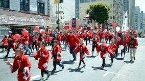 Cherry Blossom Festival 2015, San Francisco, USA,. SAN FRANSISCO - APR 19: Northern California Cherry Blossom Festival Grand Parade on April 19, 2015 in San stock footage