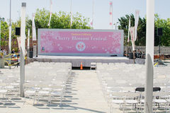 Cherry Blossom Festival stage in San Francisco. Each year, over 200,000 people attend this dazzling display showcasing the color and grace of the Japanese Royalty Free Stock Photos