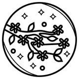 Cherry blossom flower icon. Vector vector illustration