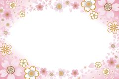 Cherry Blossom frame. Illustration of Cherry Blossom frame Royalty Free Stock Photo