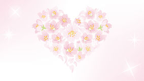 Cherry Blossom heart shape decoration - EPS10 Royalty Free Stock Photos
