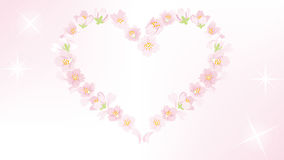 Cherry Blossom heart shape frame - EPS10 Stock Photo