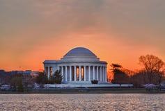 Cherry Blossom and Jefferson Memorial Stock Photo