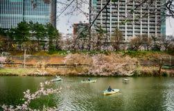 Cherry blossom at Kagurazaka, Tokyo, Japan Stock Photography