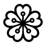 Cherry Blossom Kirschblüte ikone Lizenzfreie Stockfotos