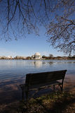 Cherry Blossom with memorial background and tidal basin Royalty Free Stock Photo
