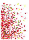 Cherry blossom painting Royalty Free Stock Images