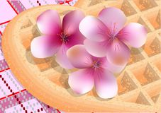 Cherry blossom and picnic Stock Photography