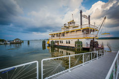 The Cherry Blossom Riverboat, in the Potomac River, in Alexandri Stock Photography