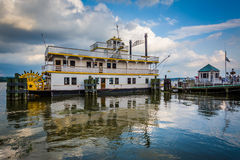 The Cherry Blossom Riverboat, in the Potomac River, in Alexandri Stock Images