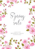 Cherry blossom sale card. Stock Images