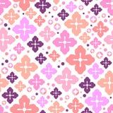 Cherry blossom seamless pattern. Japanese sakura cute background. Decorative elements. Vector illustration Stock Photography