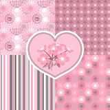 Cherry blossom seamless stylized flowers 4. Patterns Stock Image