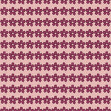 Cherry blossom sketch style with red lobe seamless on pink backg Royalty Free Stock Photo