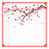 Cherry blossom template Stock Image