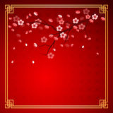 Cherry blossom template Royalty Free Stock Photography