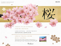 Cherry blossom tour ad Royalty Free Stock Images