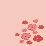 Cherry Blossom tree branch illustration vector Royalty Free Stock Photos