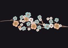 Cherry blossom tree flowers. Illustration of cherry blossom tree flowers Stock Photo