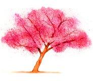 Cherry Blossom Tree. Vibrant cherry blossom tree watercolor Royalty Free Stock Photo