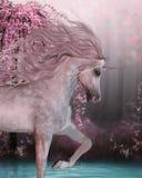 Cherry Blossom Unicorn illustrazione vettoriale