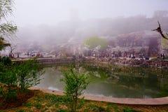 Cherry Blossom valley,wuxi,china. Wuxi Taihu Yuantouzhu Park Cherry Blossom valley royalty free stock photography