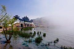 Cherry Blossom valley,wuxi,china. Wuxi Taihu Yuantouzhu Park Cherry Blossom valley stock photo