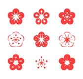 Cherry Blossom Vektor in CMYK-Modus lizenzfreie abbildung