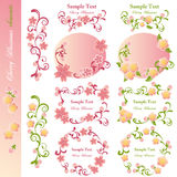 Cherry blossoms design elements Royalty Free Stock Images