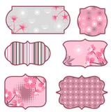 Cherry blossoms design elements, labels and Royalty Free Stock Images