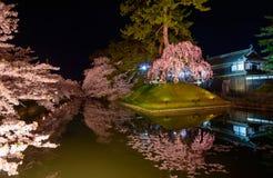 Cherry blossoms and Hirosaki Park Stock Photos