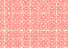 Cherry Blossoms or Sakura Pattern on Pastel Color Stock Photo
