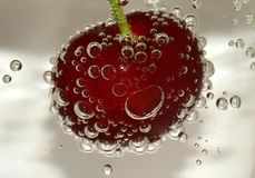 Cherry, Blow, Water Bubbles, Water Stock Photos