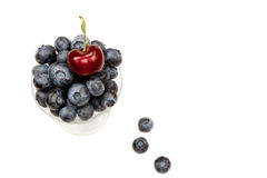 Cherry with Blueberries Royalty Free Stock Image