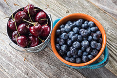 Cherry and Blueberry Stock Image