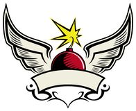 Free Cherry Bomb With The Wings, Vector Logo Concept, Isolated On White Background. Royalty Free Stock Photo - 166775685
