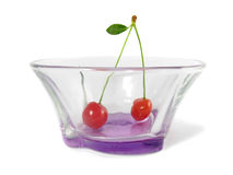 Cherry in the bowl Stock Photos