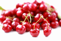 Cherry in bowl Stock Photos