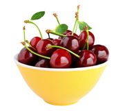 Cherry in bowl Stock Photos