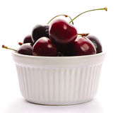 Cherry in bowl Royalty Free Stock Image