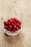 Cherry in a bowl Royalty Free Stock Photography
